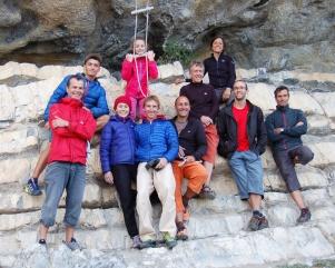 Benoit, Quentin, Meije, Stef + Arnaud, Patrick, Arnaud, Amandine, Bruno et Gerald