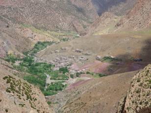 Le village de Taghia à 1900 m d'altitude.