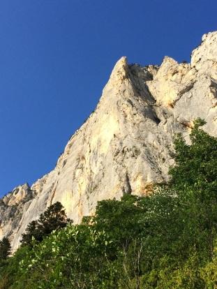 Glandasse, le pilier de Cosa Nostra, une super voie sur un calcaire splendide, bravo à Manu Ratouis et Bruno Martel !