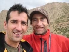 Diego Ghesquiers et Didier Angonin à Taghia en 2007.